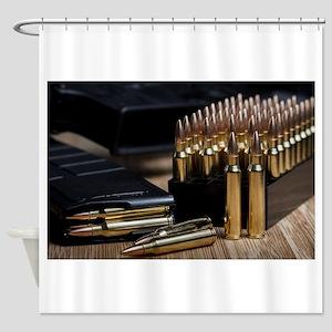 Rifle Ammunition Shower Curtain