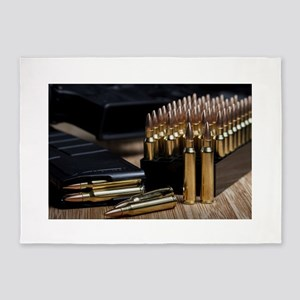Rifle Ammunition 5'x7'Area Rug