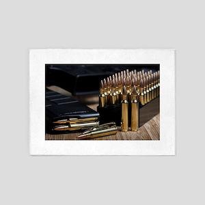 Rifle Ammunition 5'x7'Area Rug