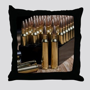 Rifle Ammunition Throw Pillow