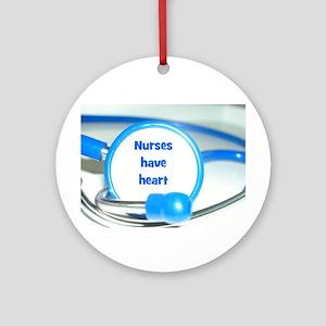 Nurses Have Heart Ornament (Round)