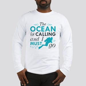 The Ocean Is Calling Long Sleeve T-Shirt