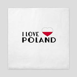 I Love Poland Queen Duvet