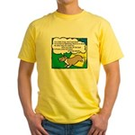 Agility Corgi Cartoon Yellow T-Shirt