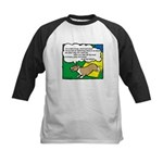 Agility Corgi Cartoon Kids Baseball Jersey