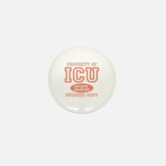 Property Of ICU Nursing Dept Nurse Mini Button