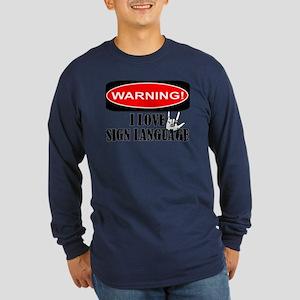 I love ASL Long Sleeve Dark T-Shirt