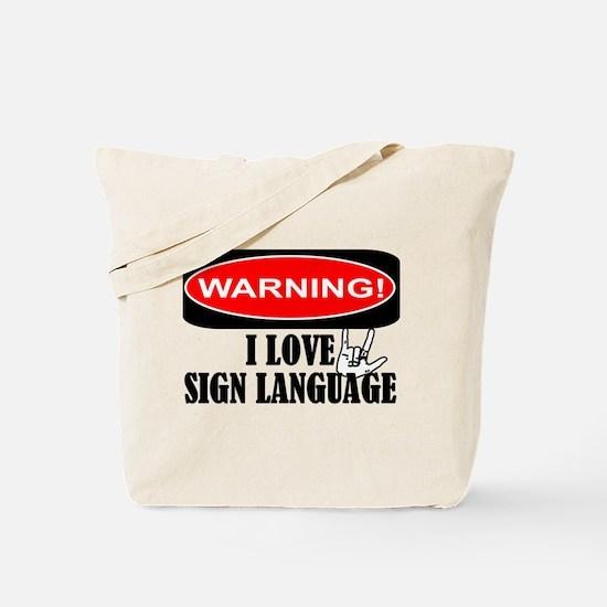 I love ASL Tote Bag