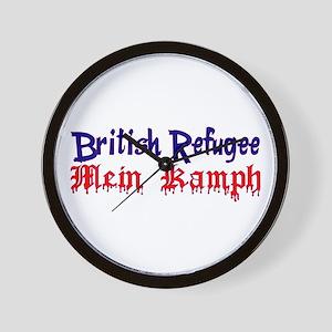 British Refugee mein kampf Wall Clock