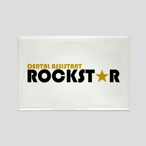 Dental Asst Rockstar 2 Rectangle Magnet