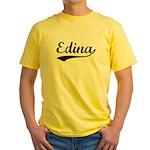 Vintage Edina (Black) Yellow T-Shirt