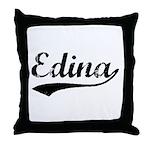 Vintage Edina (Black) Throw Pillow