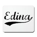 Vintage Edina (Black) Mousepad