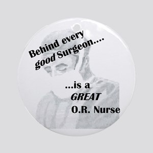 Great O.R. Nurse Ornament (Round)