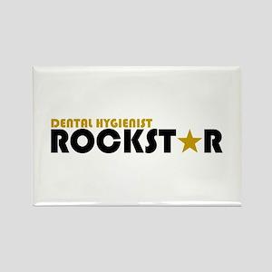 Dental Hygienist Rockstar 2 Rectangle Magnet