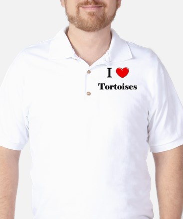 I Love Tortoises Golf Shirt
