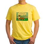 Conformation Corgi Cartoon Yellow T-Shirt