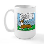 Conformation Corgi Cartoon Large Mug