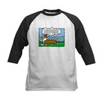 Conformation Corgi Cartoon Kids Baseball Jersey