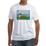 Conformation Corgi Cartoon Fitted T-Shirt