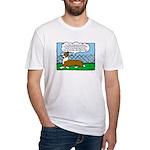 Conformation Corgi Cartoon Fitted T-Shirt