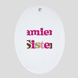 Damien's Sister Oval Ornament