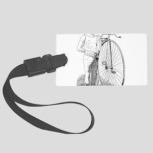 Vintage Bicyclist Large Luggage Tag