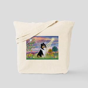 Cloud Angel / Collie Tote Bag