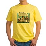 Herding Corgi Cartoon Yellow T-Shirt