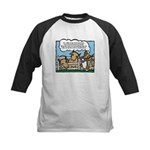 Herding Corgi Cartoon Kids Baseball Jersey