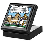 Herding Corgi Cartoon Keepsake Box