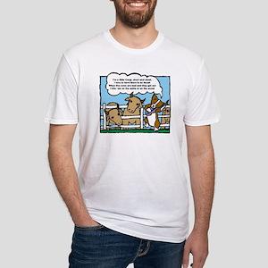 Herding Corgi Cartoon Fitted T-Shirt