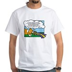 Obedience Corgi Cartoon White T-Shirt