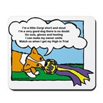 Obedience Corgi Cartoon Mousepad