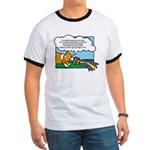 Obedience Corgi Cartoon Ringer T