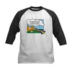 Obedience Corgi Cartoon Kids Baseball Jersey