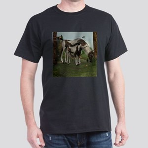 Painted Horse and Foal Dark T-Shirt