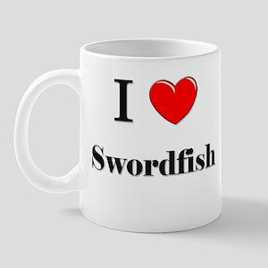 I Love Swordfish Mug