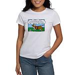 Tracking Corgi Cartoon Women's T-Shirt