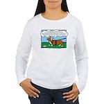 Tracking Corgi Cartoon Women's Long Sleeve T-Shirt
