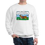 Tracking Corgi Cartoon Sweatshirt