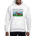 Tracking Corgi Cartoon Hooded Sweatshirt