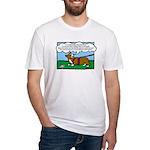 Tracking Corgi Cartoon Fitted T-Shirt