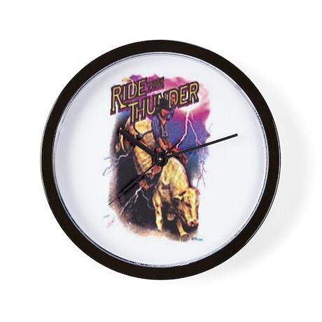 RIDE THE THUNDER Wall Clock