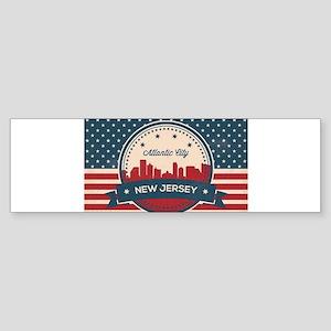 Atlantic City New Jersey Retro Skyl Bumper Sticker