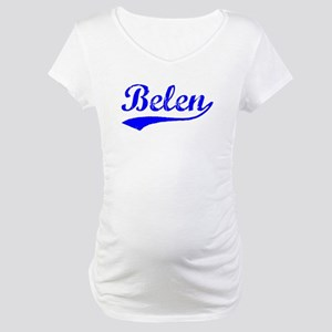 Vintage Belen (Blue) Maternity T-Shirt
