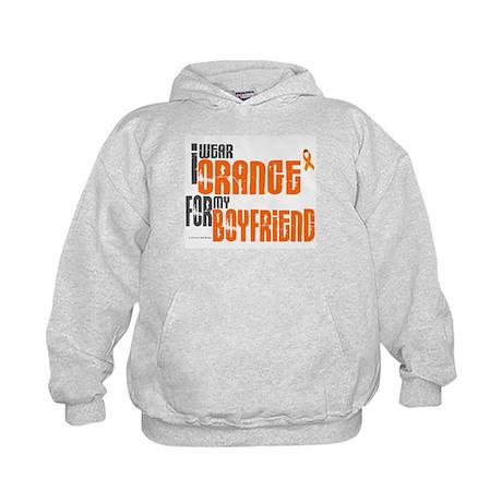 I Wear Orange For My Boyfriend 6 Kids Hoodie