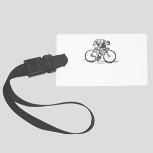 Vintage Cyclist Large Luggage Tag