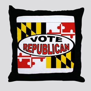 MARYLAND SLOTS Throw Pillow