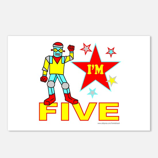 I'M FIVE Postcards (Package of 8)